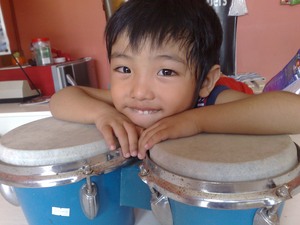 Boy On Drums Image