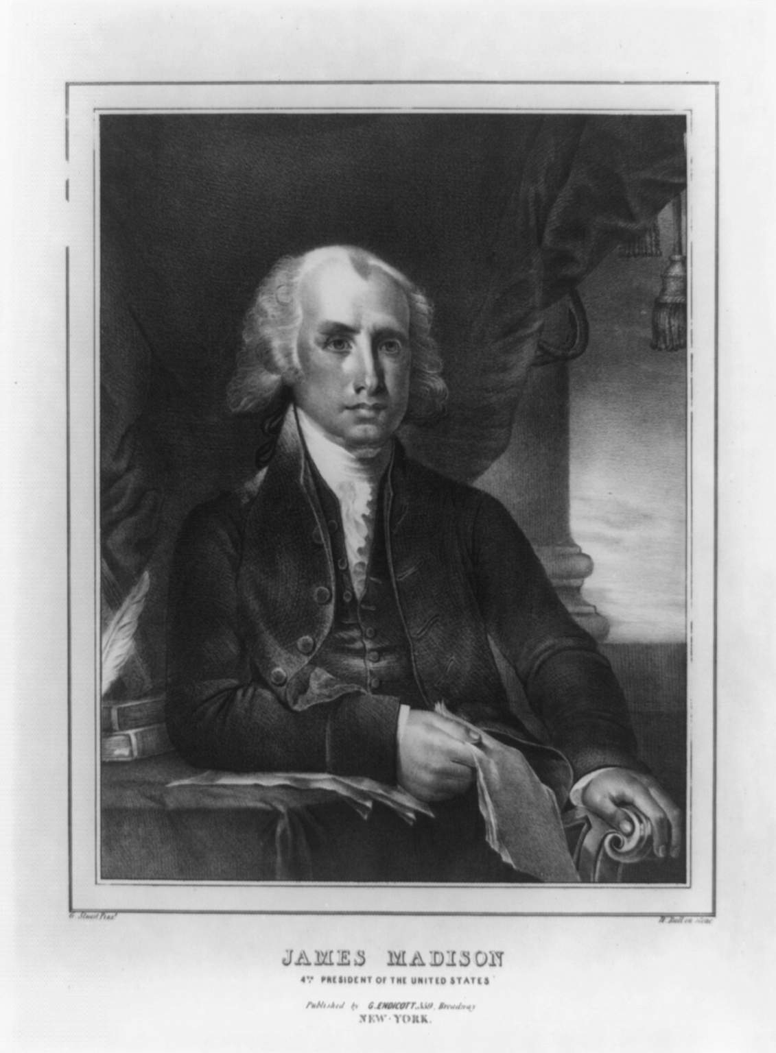 president james madison essay Essay on james madison 1512 words 7 pages james madison begins his famous federalist paper by explaining that the purpose of this essay is to help the readers understand how the structure of the proposed government makes liberty possible.