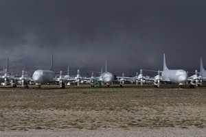 P-3 Orion Patrol Aircraft Sit In Storage At The Aerospace Maintenance And Regeneration Center (amarc). Image