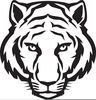 Tiger Head Outline Image