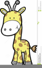 Baby Giraffe Cartoon Clipart Image