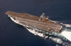 Uss Harry S. Truman (cvn 75) Steams Through The Waters Off The Coast Of Florida Image