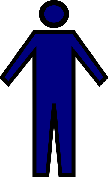 Generic Man Blue Clip Art At Clker Com Vector Clip Art