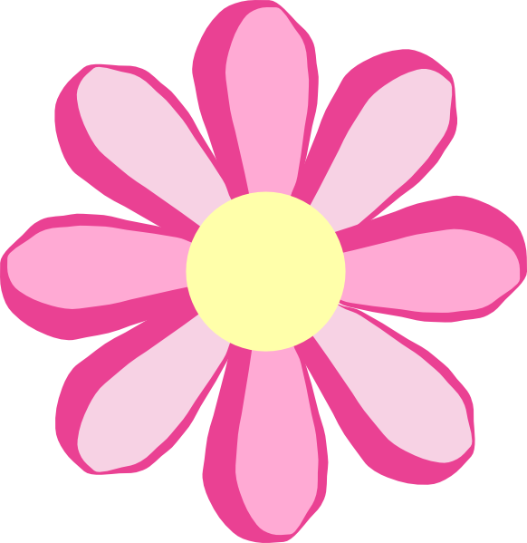 Pink flower clip art at clker vector clip art online royalty download this image as mightylinksfo Image collections