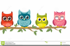 Owl And Books Clipart Image