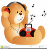 Listening To Headphones Clipart Image