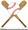 Clipart Of Baseballs And Bats Image