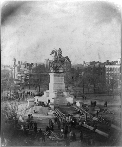 Unveiling Of The Statue Of George Washington By Thomas Crawford, In Richmond, Virginia, Feb. 22, 1852 Image