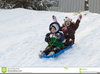 Free Winter Sledding Clipart Image