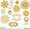 Clipart Gold Buttons Image