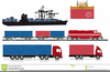 Freight Container Clipart Image