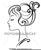 Clipart Of Womans Face Image