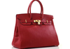 Red Hermes Birkin Handbags Image