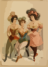 [three Women In Tights And Feathers] Clip Art