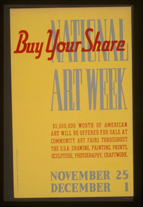National Art Week Buy Your Share / Designed & Made By Iowa Art Program, W.p.a. Image