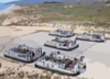 Landing Craft Air Cushion (lcac) Vehicles From Assault Craft Unit Five (acu-5) Stand By To Transport Their Cargo Of Light Armored Vehicles (lav Clip Art