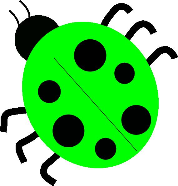 green ladybug clipart - photo #2