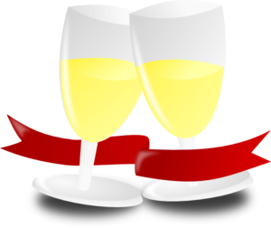 Wrapped Champagne Glasses Clip Art