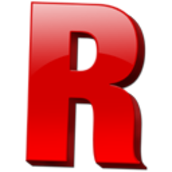 Red Letter R Letter r icon 1 image - vector