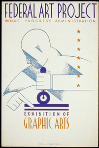 Federal Art Project Works Progress Administration Exhibition Of Graphic Arts Image