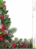 Christmas Ivy Garland Clipart Image