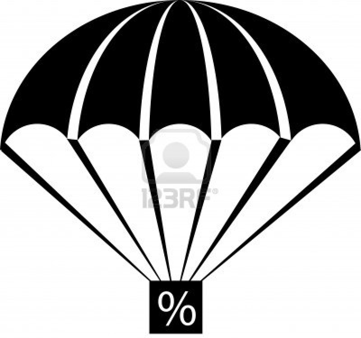 An illustration with parachute percent free images at - Clipart illustration ...