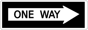 One Way Sign Clipart