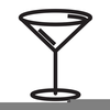 Pink Martini Glass Clipart Image
