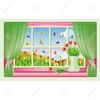 Free Clipart Window Curtains Image