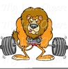 Free Weightlifting Lion Clipart Image