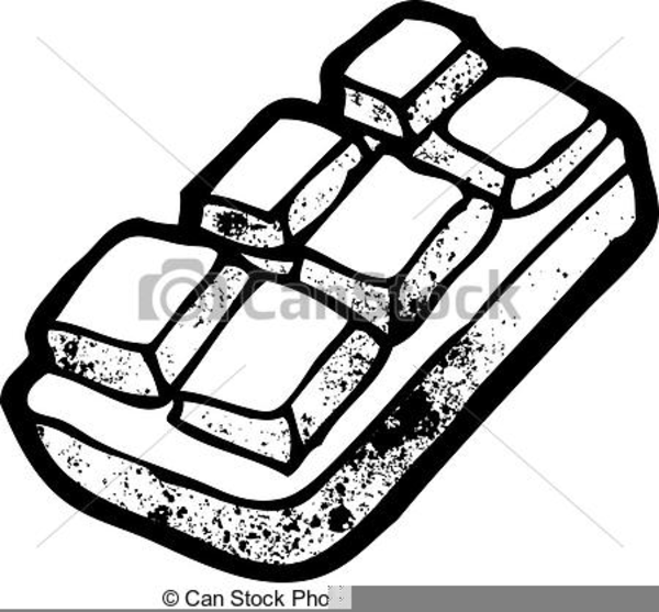 Chocolate Bar Clipart Black And White