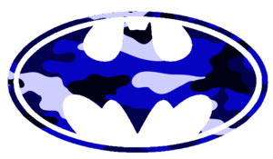 Batman Logo Blue Camo