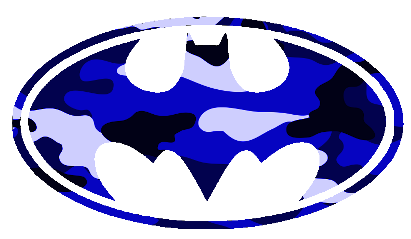 Batman Logo Blue Camo | Free Images at Clker.com - vector clip art ...