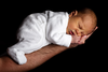 Newborn Baby On An Arm Image