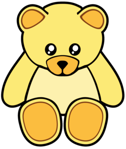 Yellow Cute Teddy Bear Image