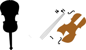 Violin Parts Plooter 2 Clip Art