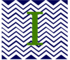 Navy Chevron With I Clip Art
