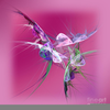 Abstract Hummingbird Art Image