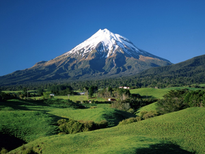 World New Zeland Taranaki Mountain Image