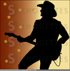 Country And Western Music Clipart Image