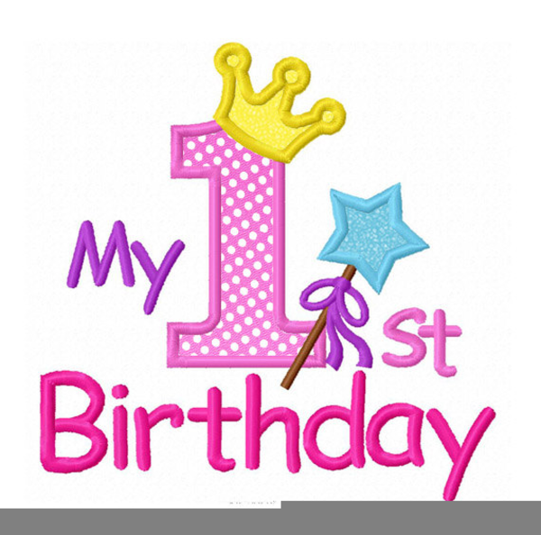 minnie mouse first birthday clipart free images at clker com rh clker com first birthday clipart images baby's first birthday clipart