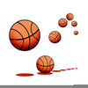 Bouncing Basketball Clipart Image