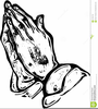 Praying Hands Clipart Black And White Image