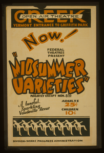 Now! Federal Theatres Present  Midsummer Varieties  A Tuneful, Sparkling Vaudeville Revue. Image