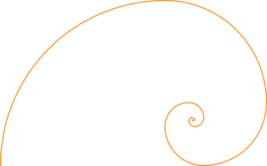 Fibonacci Spiral Orange Clip Art