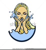 Free Clipart Washing Face Image