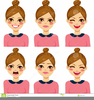 Cartoon Face Expressions Clipart Image