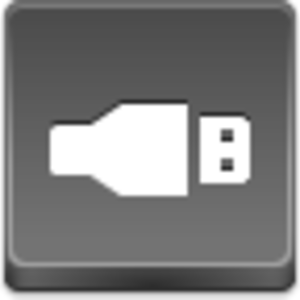Free Grey Button Icons Usb Image