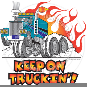 Free Trucking Clipart Image