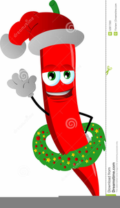 Christmas Chili Pepper Clipart Image